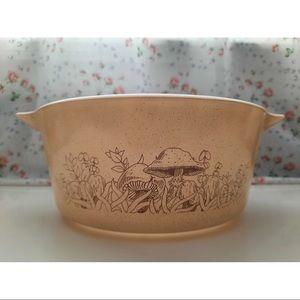 Pyrex Mushroom Print Bowl